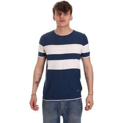 Υφασμάτινα Άνδρας T-shirt με κοντά μανίκια Gaudi 011BU53023 Μπλε