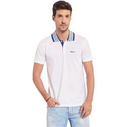 Υφασμάτινα Άνδρας Πόλο με κοντά μανίκια  Gaudi 011BU64044 λευκό