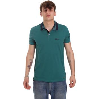Υφασμάτινα Άνδρας Πόλο με κοντά μανίκια  Gaudi 011BU64044 Πράσινος
