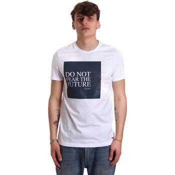 Υφασμάτινα Άνδρας T-shirt με κοντά μανίκια Gaudi 011BU64067 λευκό