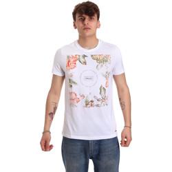 Υφασμάτινα Άνδρας T-shirt με κοντά μανίκια Gaudi 011BU64070 λευκό