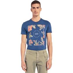 Υφασμάτινα Άνδρας T-shirt με κοντά μανίκια Gaudi 011BU64070 Μπλε
