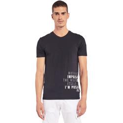 Υφασμάτινα Άνδρας T-shirt με κοντά μανίκια Gaudi 011BU64071 Μαύρος