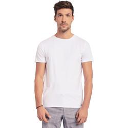 Υφασμάτινα Άνδρας T-shirt με κοντά μανίκια Gaudi 011BU64093 λευκό