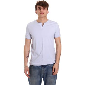 Υφασμάτινα Άνδρας T-shirt με κοντά μανίκια Gaudi 011BU64094 Βιολέτα
