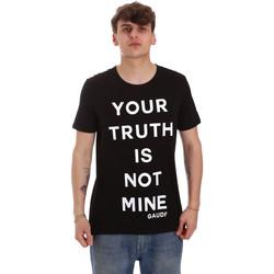 Υφασμάτινα Άνδρας T-shirt με κοντά μανίκια Gaudi 011BU64107 Μαύρος