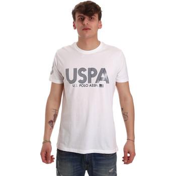 Υφασμάτινα Άνδρας T-shirt με κοντά μανίκια U.S Polo Assn. 57197 49351 λευκό