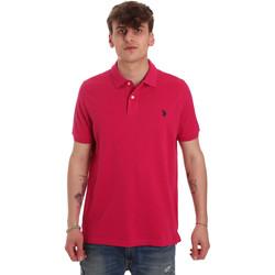Υφασμάτινα Άνδρας Πόλο με κοντά μανίκια  U.S Polo Assn. 55957 41029 Ροζ