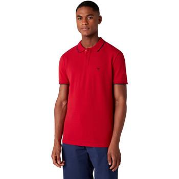 Υφασμάτινα Άνδρας Πόλο με κοντά μανίκια  Wrangler W7D5K4X47 το κόκκινο