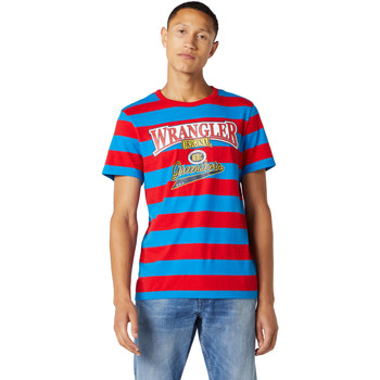 Υφασμάτινα Άνδρας T-shirt με κοντά μανίκια Wrangler W7E1FKXKL Μπλε