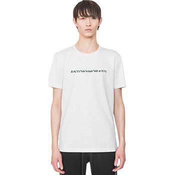 Υφασμάτινα Άνδρας T-shirt με κοντά μανίκια Antony Morato MMKS01754 FA100144 λευκό