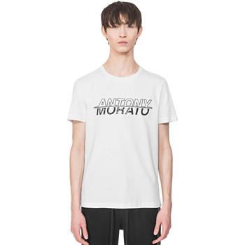Υφασμάτινα Άνδρας T-shirt με κοντά μανίκια Antony Morato MMKS01816 FA100144 λευκό