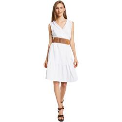 Υφασμάτινα Γυναίκα Κοντά Φορέματα Gaudi 011BD15037 λευκό