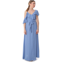 Υφασμάτινα Γυναίκα Μακριά Φορέματα Fracomina FR20SP031 Μπλε