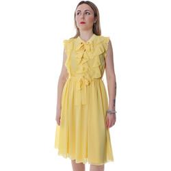 Υφασμάτινα Γυναίκα Κοντά Φορέματα Fracomina FR20SP536 Κίτρινος