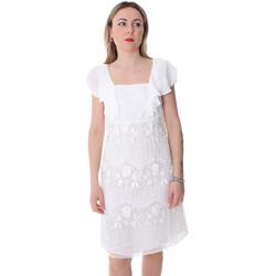 Υφασμάτινα Γυναίκα Κοντά Φορέματα Fracomina FR20SP584 λευκό