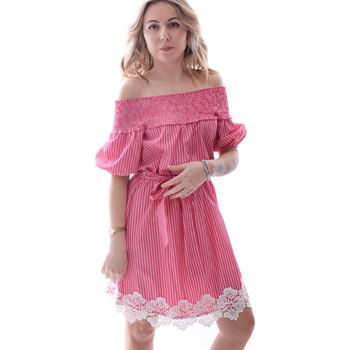 Υφασμάτινα Γυναίκα Κοντά Φορέματα Fracomina FR20SP526 το κόκκινο