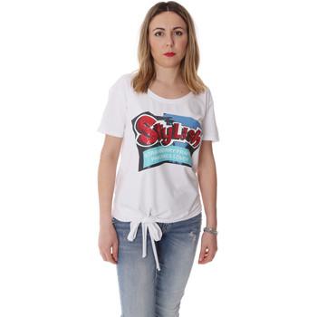 Υφασμάτινα Γυναίκα T-shirt με κοντά μανίκια Fracomina FR20SP303 λευκό