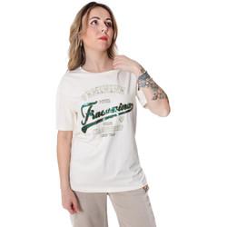 Υφασμάτινα Γυναίκα T-shirt με κοντά μανίκια Fracomina FR20SP305 λευκό