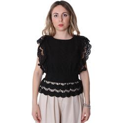 Υφασμάτινα Γυναίκα Μπλούζες Fracomina FR20SP586 Μαύρος