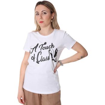 Υφασμάτινα Γυναίκα T-shirt με κοντά μανίκια Fracomina FR20SP306 λευκό