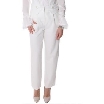 Υφασμάτινα Γυναίκα Παντελόνια Chino/Carrot Fracomina FR20SP164 λευκό