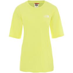 Υφασμάτινα Γυναίκα T-shirt με κοντά μανίκια The North Face NF0A4CESVC51 Κίτρινος