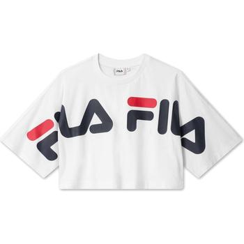 Υφασμάτινα Γυναίκα T-shirt με κοντά μανίκια Fila 687497 λευκό