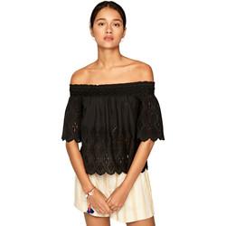 Υφασμάτινα Γυναίκα Μπλούζες Pepe jeans PL303696 Μαύρος
