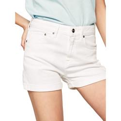 Υφασμάτινα Γυναίκα Σόρτς / Βερμούδες Pepe jeans PL800848TA2 λευκό