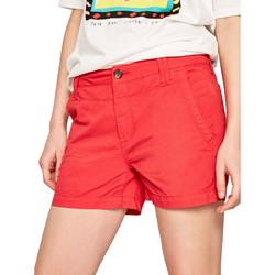 Υφασμάτινα Γυναίκα Σόρτς / Βερμούδες Pepe jeans PL800695 το κόκκινο