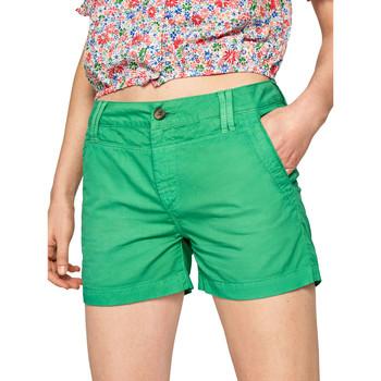 Υφασμάτινα Γυναίκα Σόρτς / Βερμούδες Pepe jeans PL800695 Πράσινος