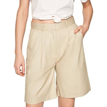 Υφασμάτινα Γυναίκα Σόρτς / Βερμούδες Pepe jeans PL800886 Μπεζ