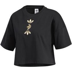 Υφασμάτινα Γυναίκα T-shirt με κοντά μανίκια adidas Originals FS7232 Μαύρος