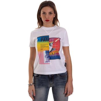 Υφασμάτινα Γυναίκα T-shirt με κοντά μανίκια Versace B2HVB7V630331003 λευκό