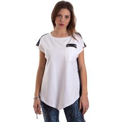 Υφασμάτινα Γυναίκα T-shirt με κοντά μανίκια Versace D3HVB657S0683904 λευκό
