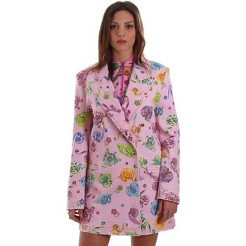 Υφασμάτινα Γυναίκα Σακάκι / Blazers Versace C2HVB507SN75SK69 Ροζ