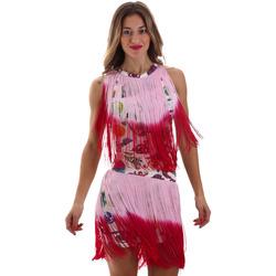 Υφασμάτινα Γυναίκα Κοντά Φορέματα Versace D2HVB406S0777K67 λευκό