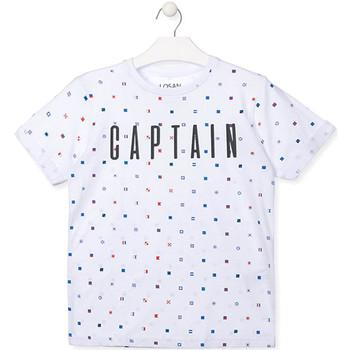 Υφασμάτινα Αγόρι T-shirt με κοντά μανίκια Losan 013-1001AL λευκό