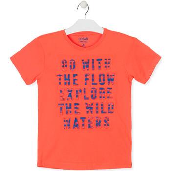 Υφασμάτινα Αγόρι T-shirt με κοντά μανίκια Losan 013-1005AL Πορτοκάλι