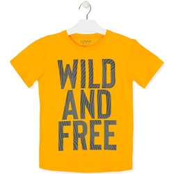 Υφασμάτινα Παιδί T-shirt με κοντά μανίκια Losan 013-1018AL Κίτρινος