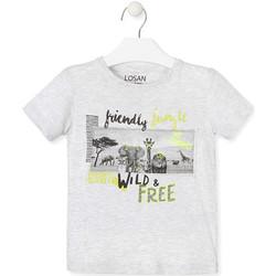 Υφασμάτινα Παιδί T-shirt με κοντά μανίκια Losan 015-1010AL Γκρί
