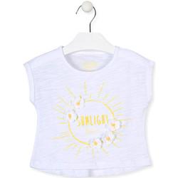 Υφασμάτινα Κορίτσι T-shirt με κοντά μανίκια Losan 016-1006AL λευκό