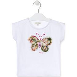 Υφασμάτινα Κορίτσι T-shirt με κοντά μανίκια Losan 016-1790AL λευκό