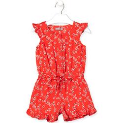 Υφασμάτινα Κορίτσι Ολόσωμες φόρμες / σαλοπέτες Losan 016-7029AL το κόκκινο