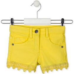 Υφασμάτινα Παιδί Σόρτς / Βερμούδες Losan 016-9001AL Κίτρινος