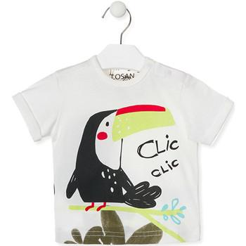 Υφασμάτινα Παιδί T-shirt με κοντά μανίκια Losan 017-1012AL λευκό