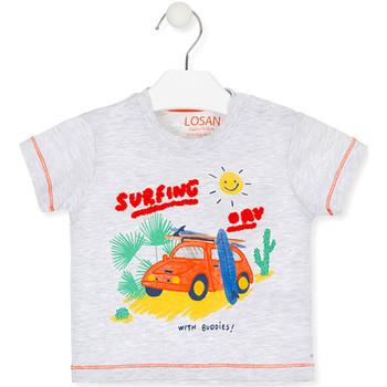 Υφασμάτινα Παιδί T-shirt με κοντά μανίκια Losan 017-1015AL Γκρί