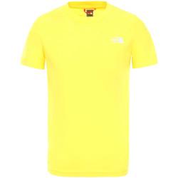 Υφασμάτινα Παιδί T-shirt με κοντά μανίκια The North Face NF0A2WANDW91 Κίτρινος