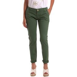 Υφασμάτινα Γυναίκα Παντελόνια Chino/Carrot Gaudi 811BD25009 Πράσινος